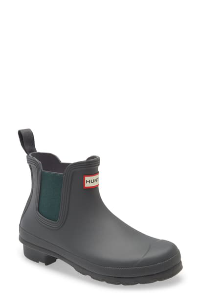 Hunter Original Waterproof Chelsea Rain Boot In Firth/ Green Jasper