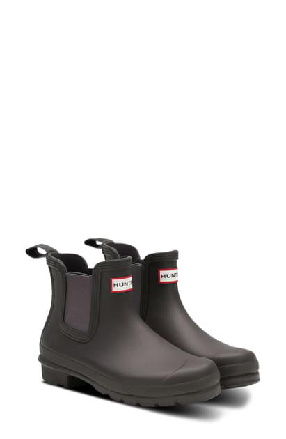 Hunter Original Waterproof Chelsea Rain Boot In Tarn/ Seep