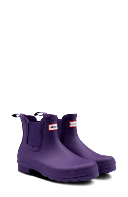 Hunter Original Waterproof Chelsea Rain Boot In Cavendish Blue/ Blue