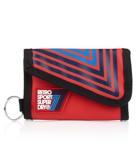 Superdry Retro Sport Bi Fold Wallet In Rot