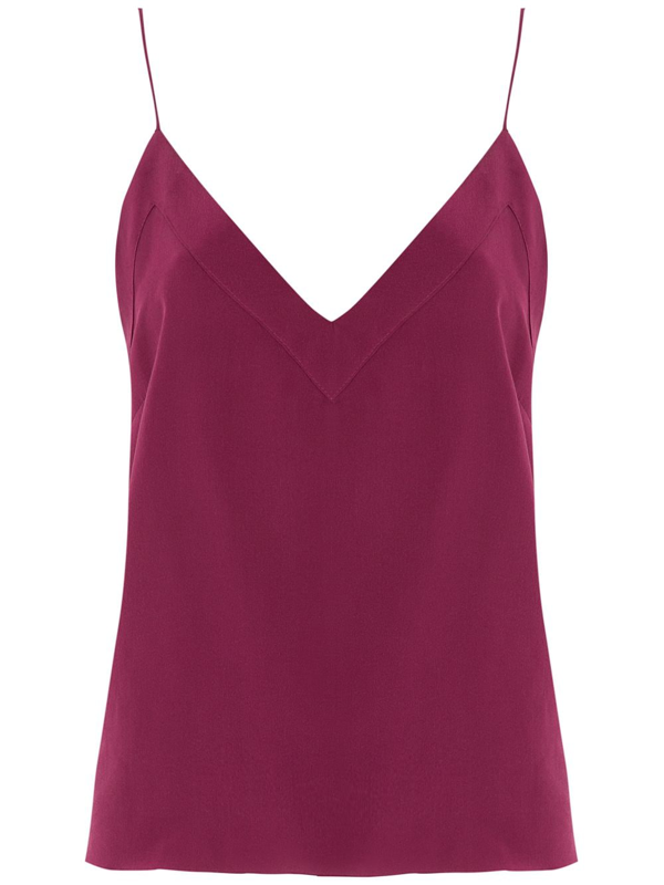 Eva V-neck Tank Top In Purple