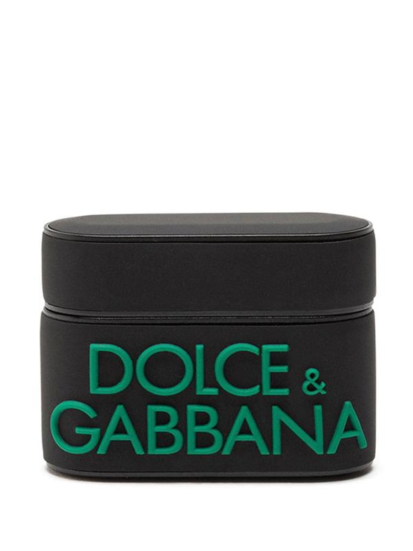 Dolce & Gabbana Logo-detail Rubber Airpods Pro Case In Black