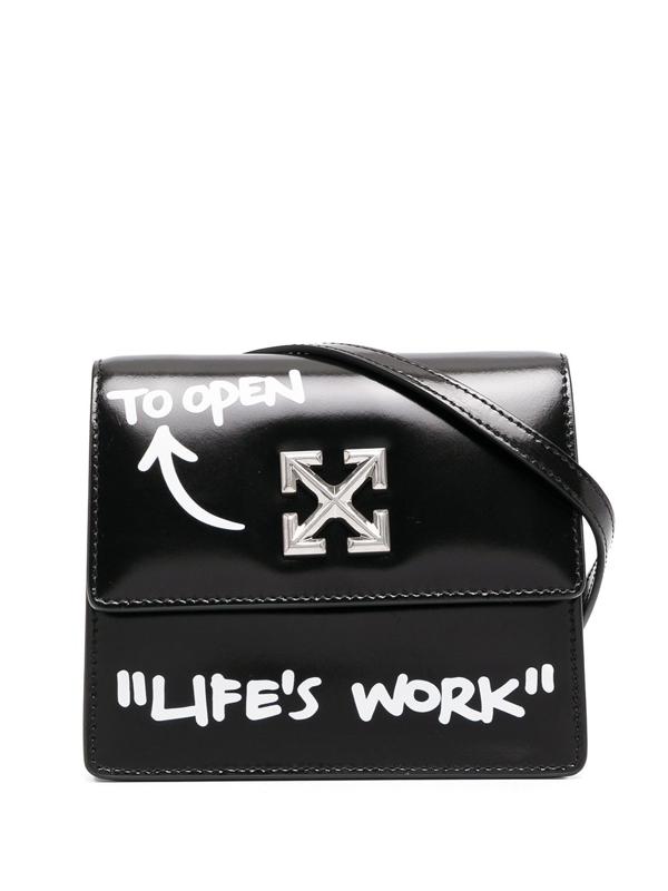 Off-white 0.7 Quote Jitney Shoulder Bag In Black