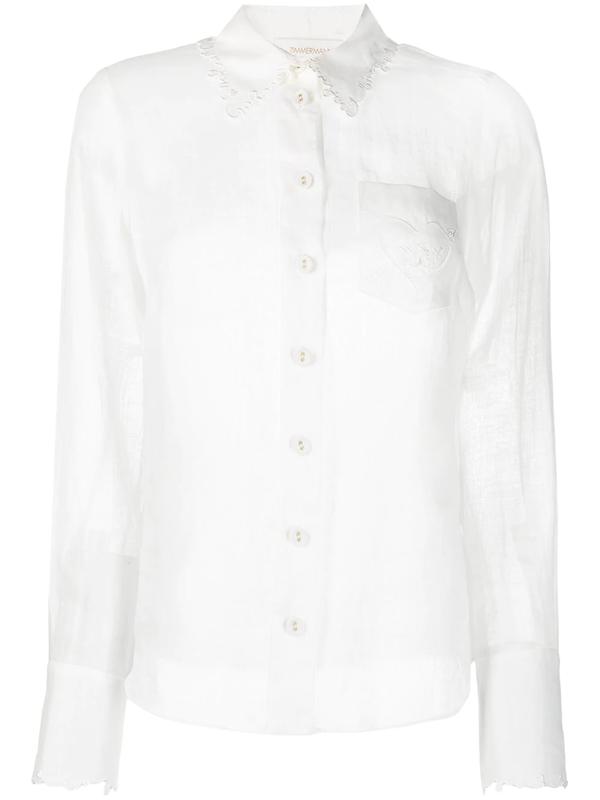 Zimmermann The Lovestruck Shirt In White