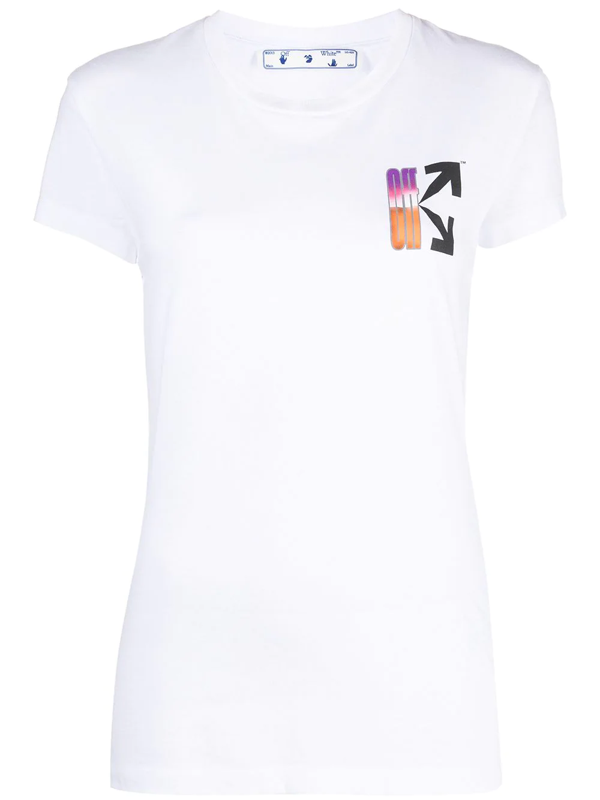 Off-white Women's Gradient Carryover Fitted T-shirt In White