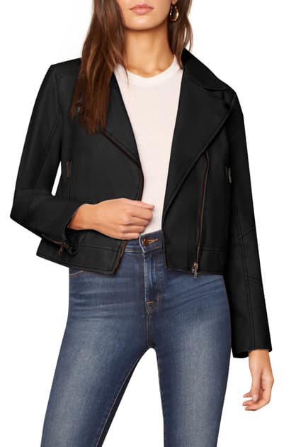 Cupcakes And Cashmere Melody Faux Leather Jacket In Black