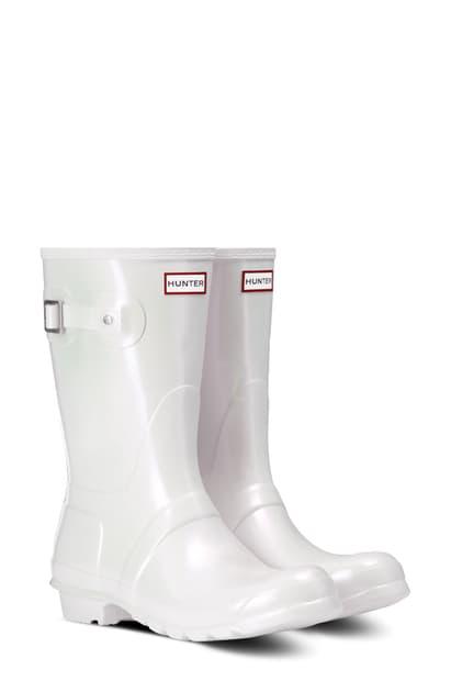 Hunter Original Short Nebula Rain Boot In Silver