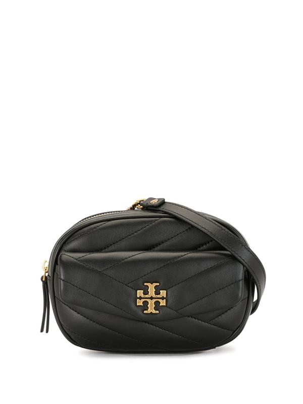 Tory Burch Kira Chevron Belt Bag In Black