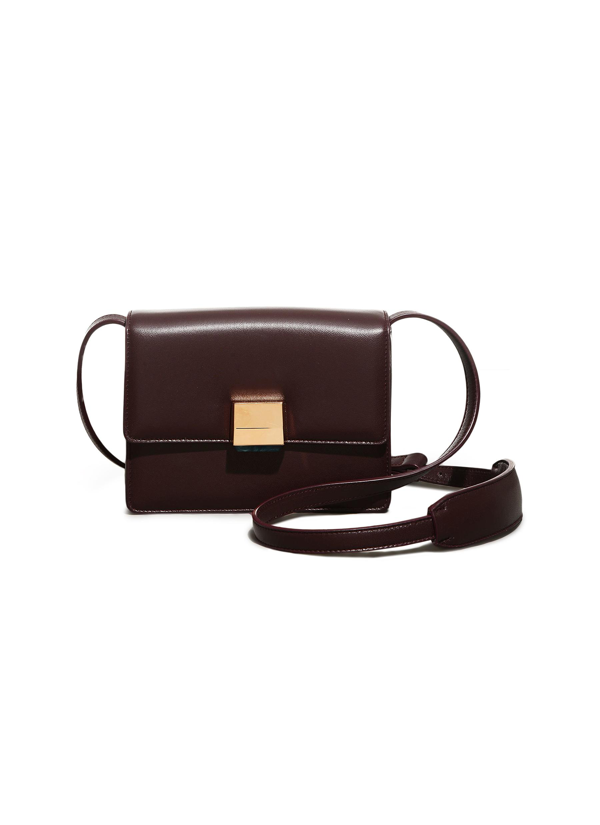 Gabriela Hearst 'mercedes' Messenger Leather Bag In Red