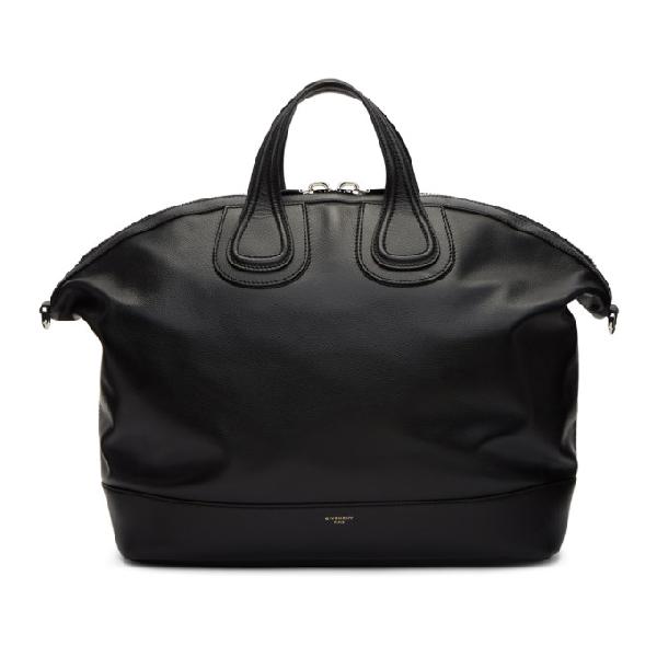 Givenchy Nightingale Canvas & Leather Satchel Bag, Black