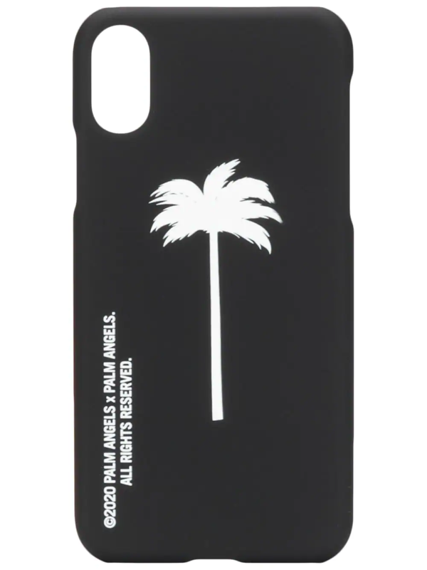 Palm Angels Palm Tree-print Iphone Xs Case In Black