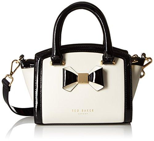 370e32dcf54 Ted Baker Deliyah Mini Curved Top With Bow Satchel Shoulder Bag In Cream