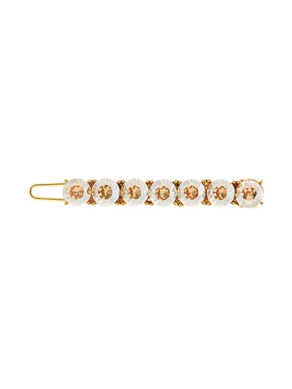 Oscar De La Renta Rhinestone-embellished Hair Clip In Gold