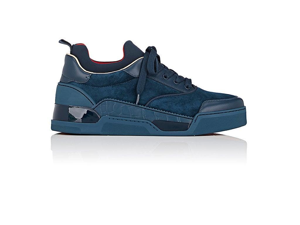 25c10fd1287 Christian Louboutin Aurelien Flat Sneakers In Blue