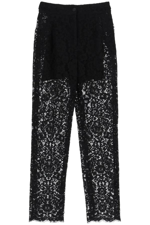 Dolce & Gabbana Cordonetto Lace Trousers In Black