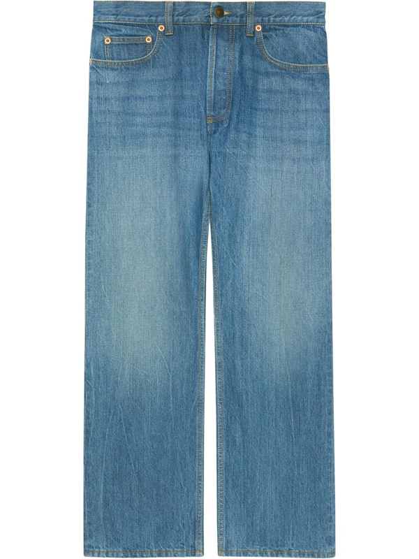 Gucci X Disney Eco Denim Jeans In Blue