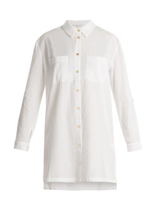 c112748fcea08 Heidi Klein Maine Oversized Woven Shirt Dress In White | ModeSens