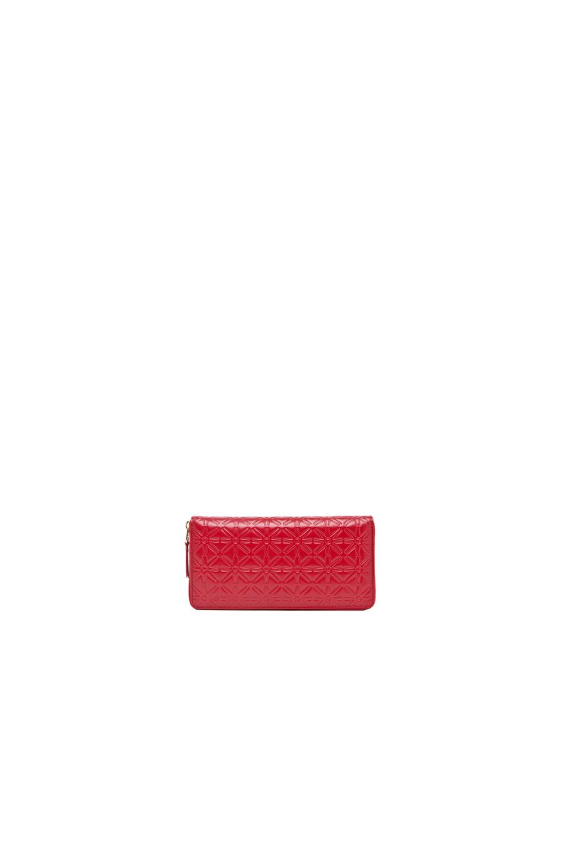 Comme Des GarÇons Comme Des Garcons Star Embossed Long Wallet In Red