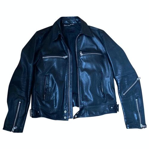 Pre-owned Diesel Black Gold Black Leather Jacket