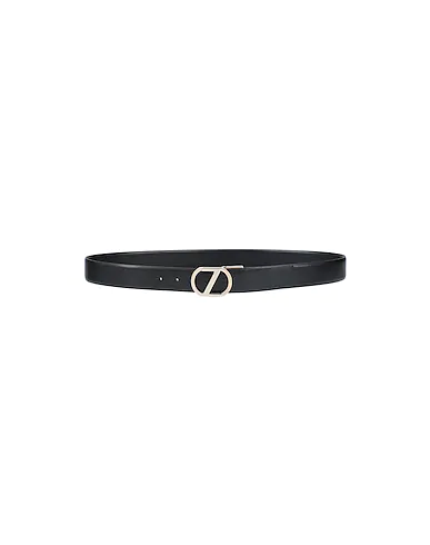 Zegna Leather Belt In Black