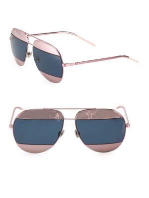 22b7e565a60 Dior Split Two-Tone Metallic Aviator Sunglasses In Pink  Blue