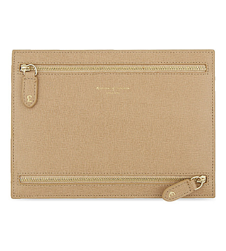 Aspinal Of London Multi Currency Deer Leather Wallet