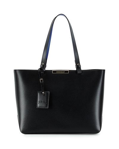 Le Foulonne City Medium Tote Bag, Black