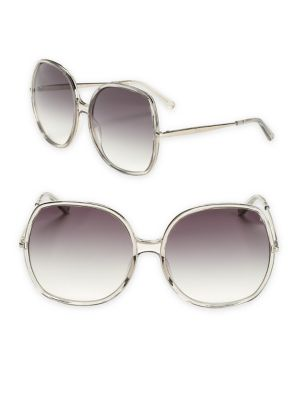 9265c5c1305f ChloÉ Turtledove 62Mm Oversized Round Sunglasses
