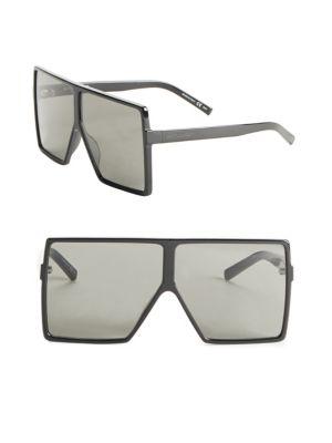 989f019bad Saint Laurent New Wave 182 Matte Black Metal Betty Sunglasses In Black Grey