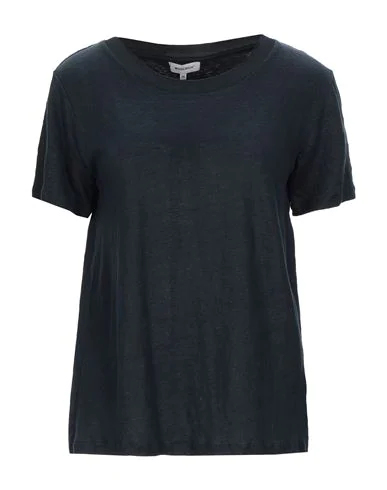Woolrich Mixed S/s T-shirt In Black