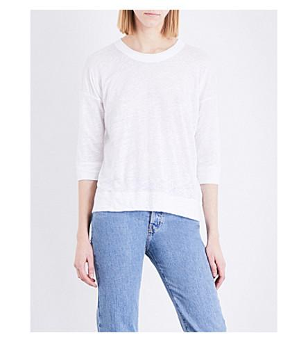 Whistles Laura Linen Top In White