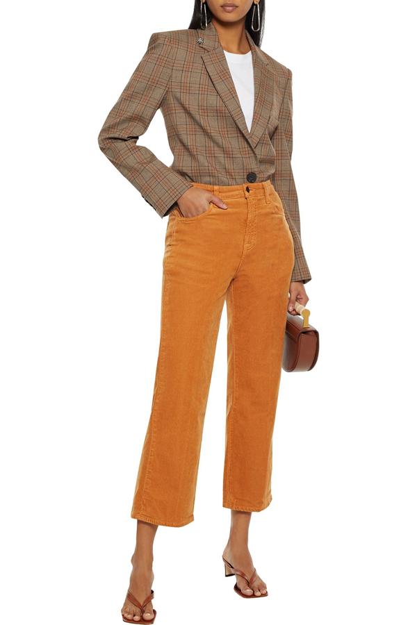 J Brand Faded Cotton-blend Corduroy Straight-leg Pants In Camel