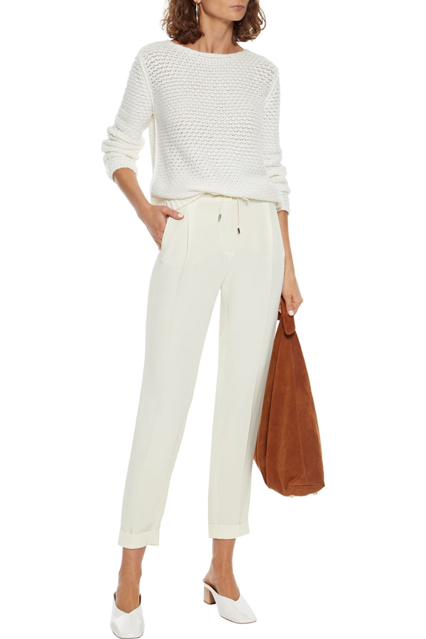 Loro Piana Daydream Bouclé-knit Cashmere Sweater In Ivory