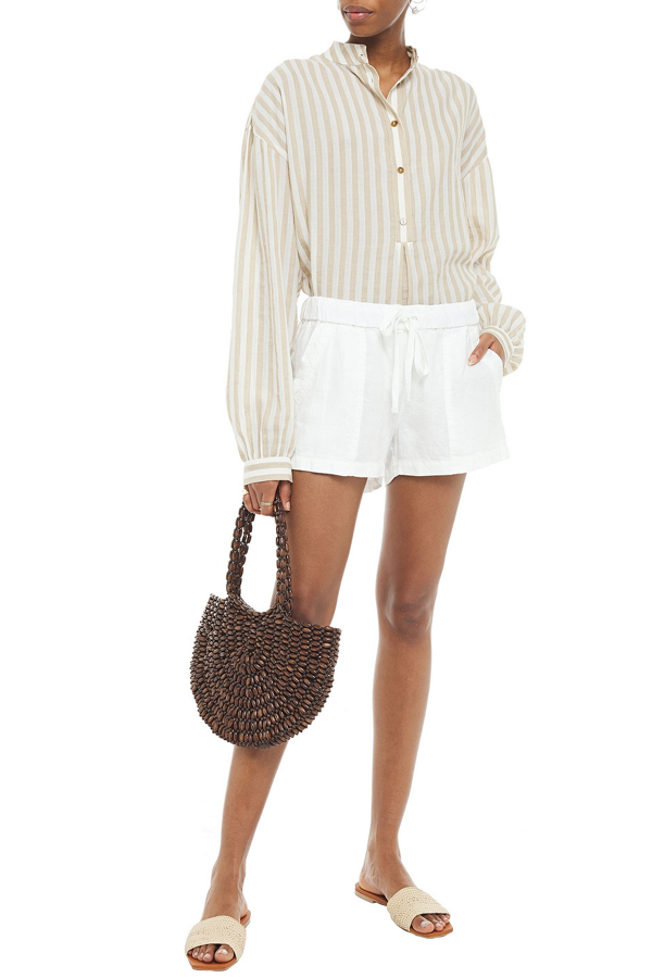 Joie Fosette Linen Shorts In Off-white