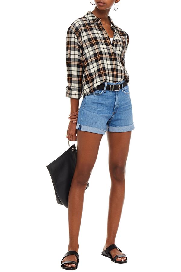 Rag & Bone Nina Distressed Denim Shorts In Light Denim