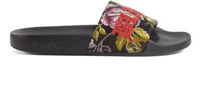 13a964d2b Gucci Pursuit Blind For Love Slide Sandal In Multi | ModeSens