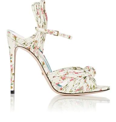 89d43dec8 Gucci Allie Floral-Print Leather Sandal