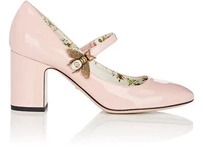 a94115b4328 Gucci Lois Patent Leather Mary Jane Pumps - Pink