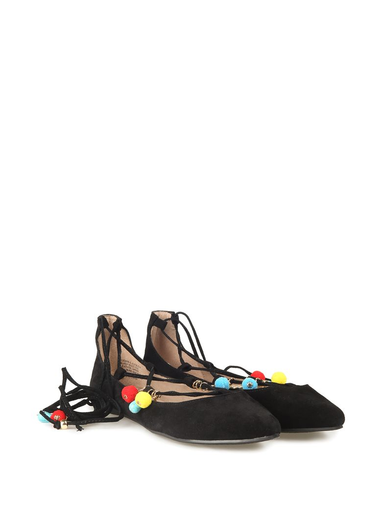 abb9813cb9b Steve Madden Eleanor Embellished Suede Ballet Flats In Nero