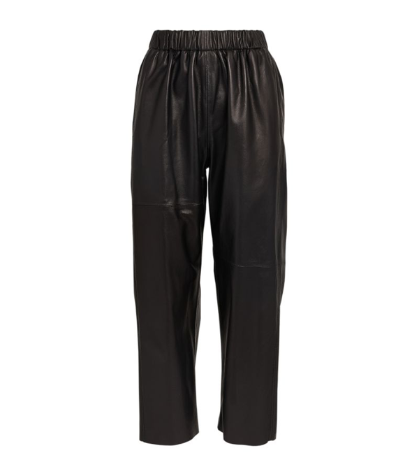Mm6 Maison Margiela Leather Cropped Trousers