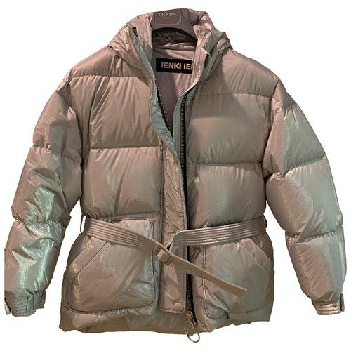 Pre-owned Ienki Ienki Metallic Coat
