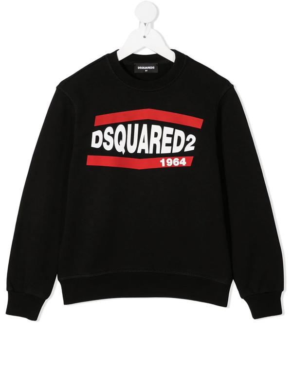 Dsquared2 Kids' Black Sweatshirt For Boy With Logo