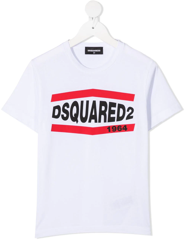 Dsquared2 Kids' White T-shirt For Boy With Logo