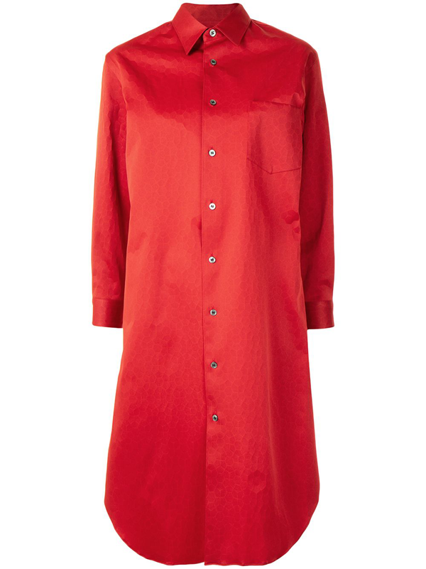 Junya Watanabe Layered Shirt Dress In Red