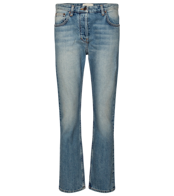 The Row Ashland Cropped Straight Jeans In Blue