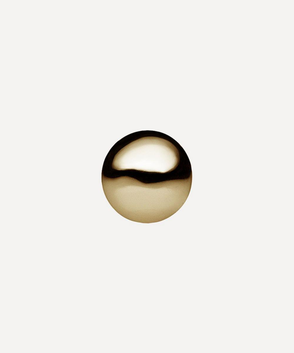 Maria Tash 2mm Ball Threaded Stud Earring In Gold