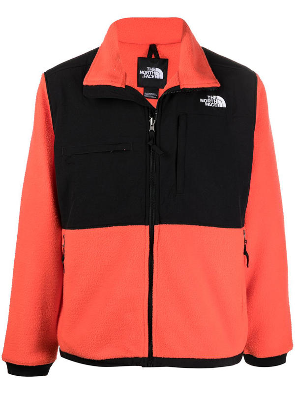 The North Face Denali Contrast-panel Jacket In Red