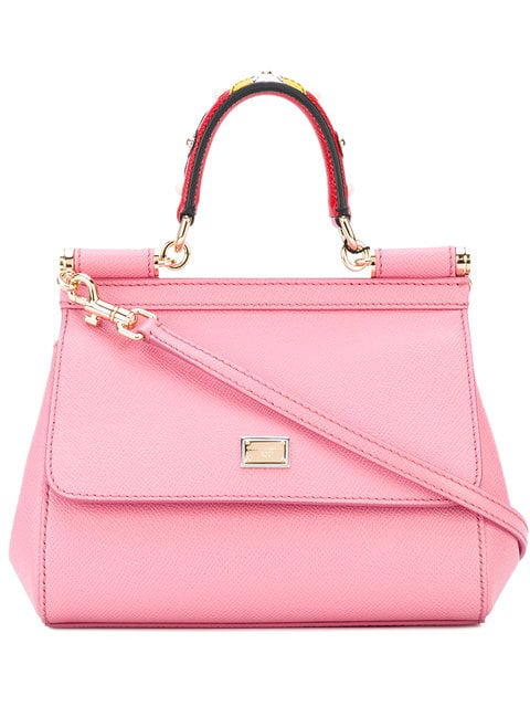d61ef5b1cc Dolce   Gabbana Sicily Small Leather Shoulder Bag In Pink