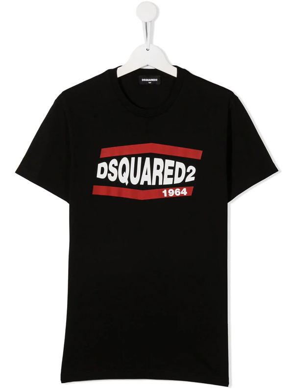 Dsquared2 Teen Logo-print T-shirt In Black