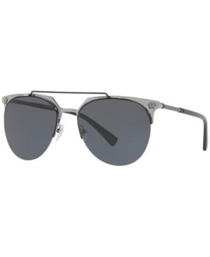 8b994933fa0 Versace 0Ve2181 100187 Matte Black Gunmetal Aviator Sunglasses In Black Grey